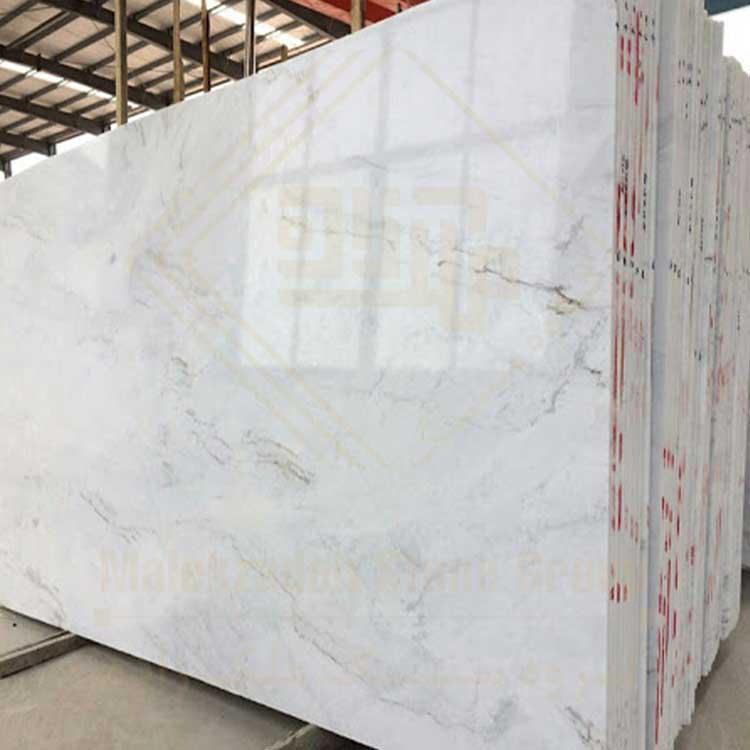 سنگ اسلب الیگودرز سفید دارای رگه های طوسی و مشکی مناسب برای کف سالن ها و ...